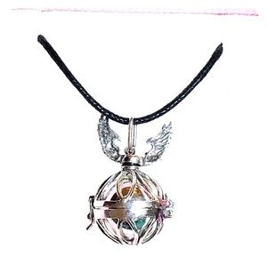 .925 MEXICAN SILVER  ANGEL CALLER NECKLACE